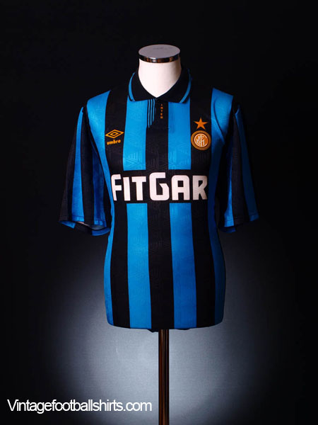 1991-92 Inter Milan Home Shirt L