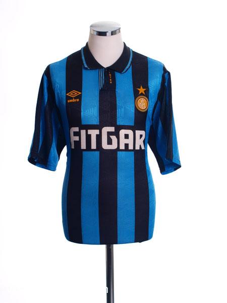 1991-92 Inter Milan Home Shirt #6 XL