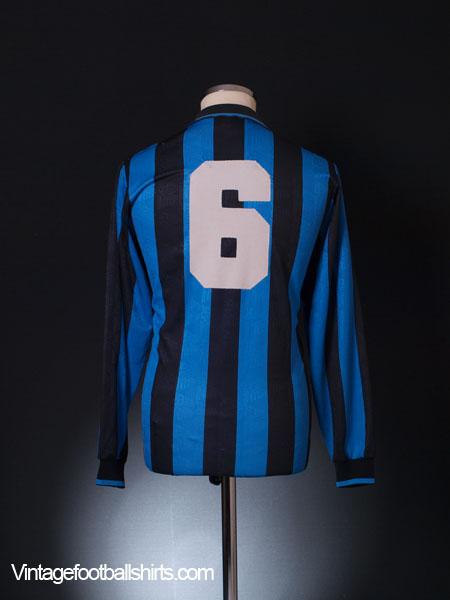 b2f9e39f6da 1991-92 Inter Milan Match Issue Home Shirt  6 L S L for sale