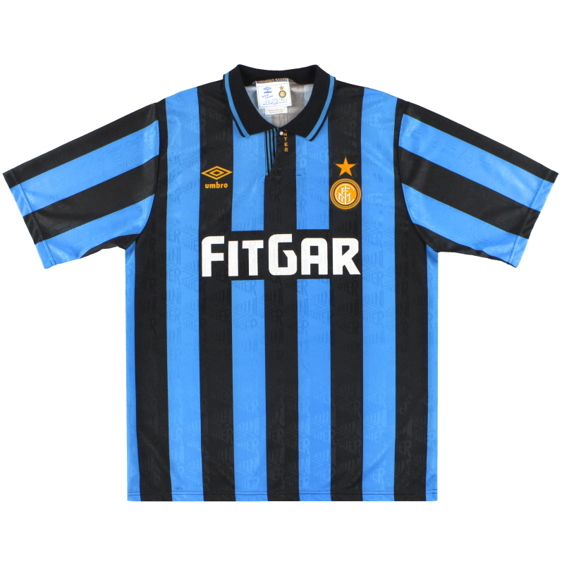 1991-92 Inter Milan Umbro Home Shirt *Mint* XL