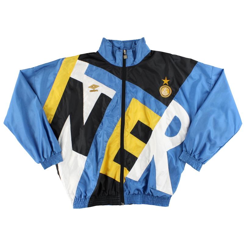 T-Shirts 1991-92 Inter Milan Umbro Track Jacket *Mint* L