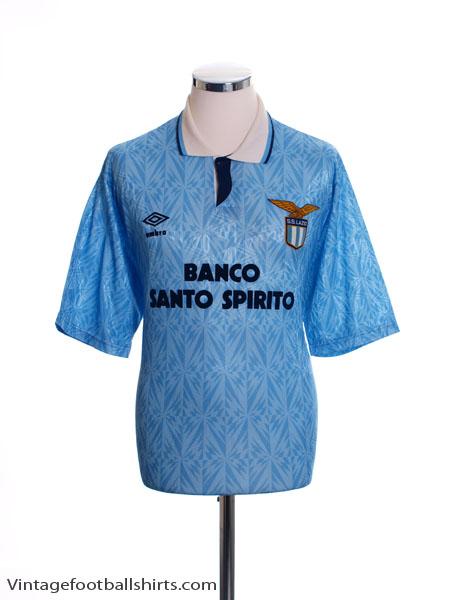 1991-92 Lazio Home Shirt *Mint* XL