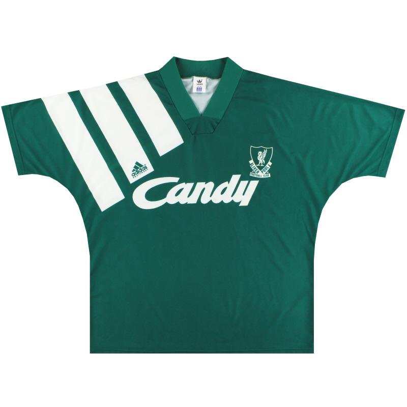 1991-92 Liverpool adidas Away Shirt L