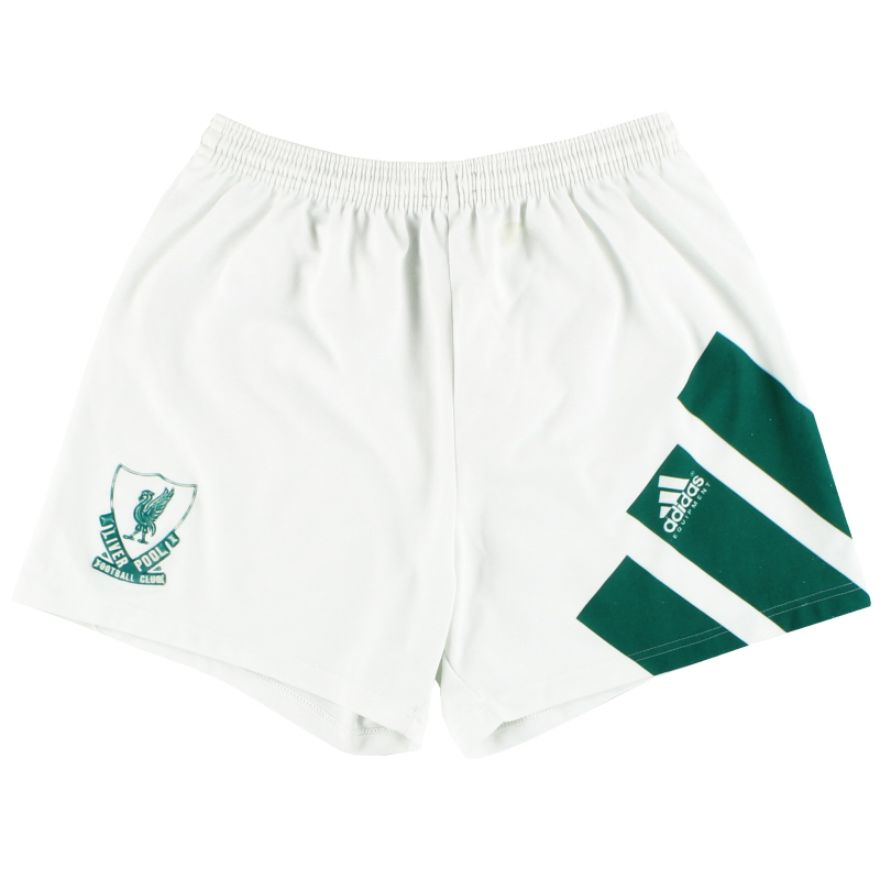 1991-92 Liverpool adidas Away Shorts S