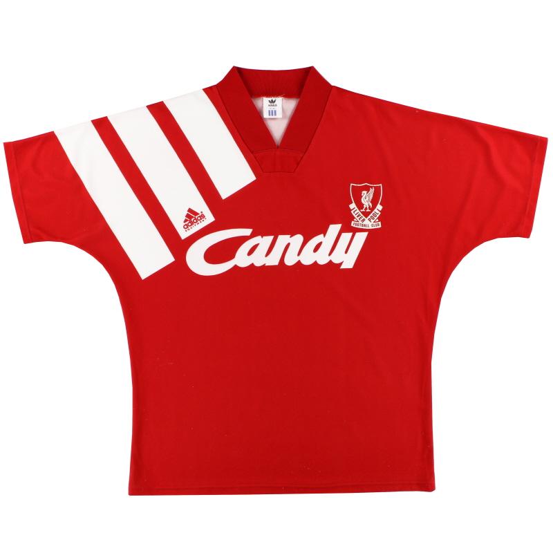 1991-92 Liverpool adidas Home Shirt S