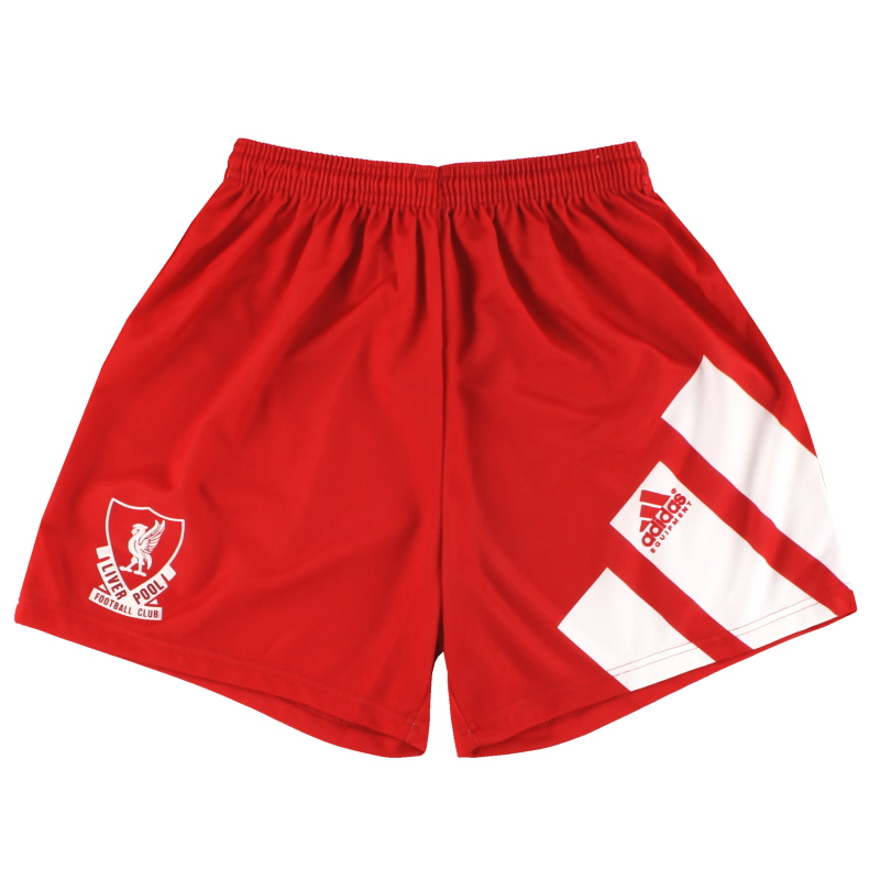 1991-92 Liverpool adidas Home Shorts L