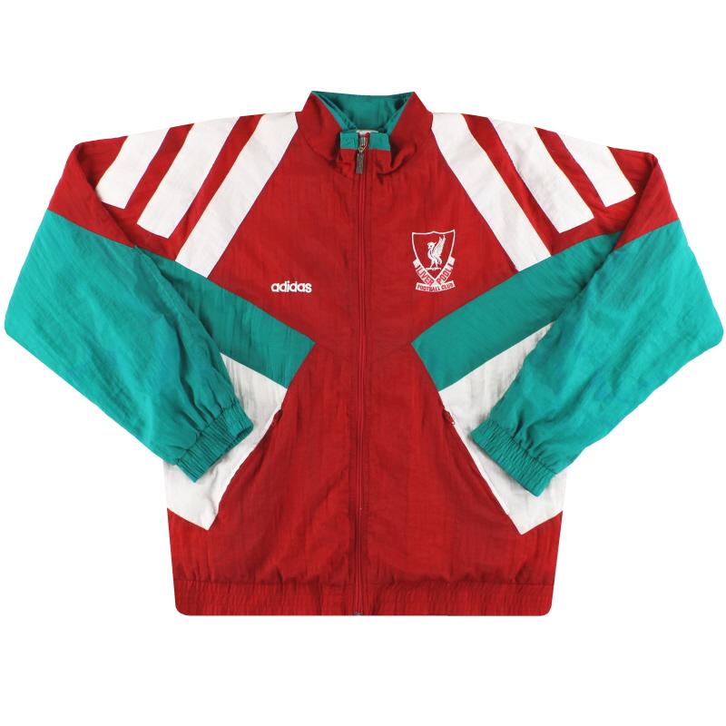 1991-92 Liverpool adidas Shell Jacket S
