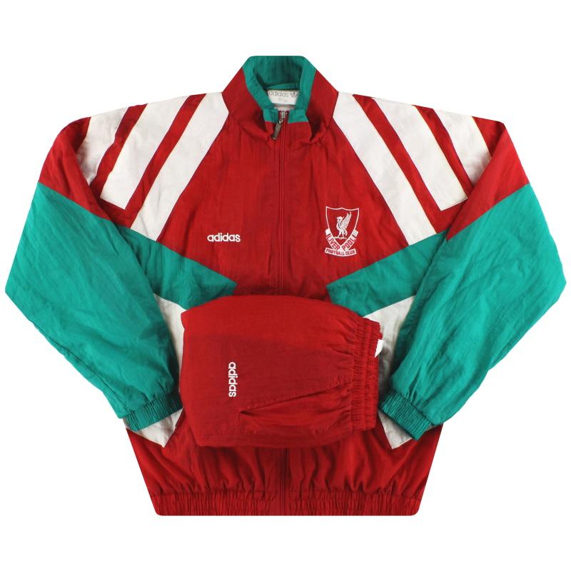 1991-92 Liverpool adidas Tracksuit XS