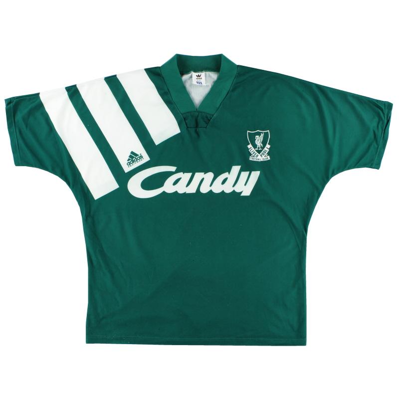 1991-92 Liverpool Away Shirt L