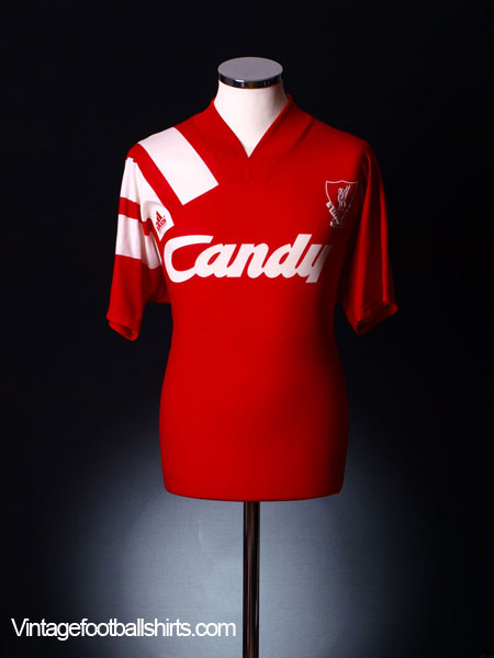 1991-92 Liverpool Home Shirt L.Boys