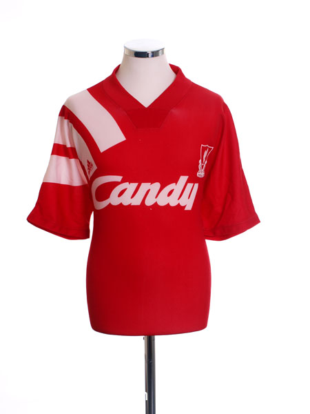 1991-92 Liverpool Home Shirt L