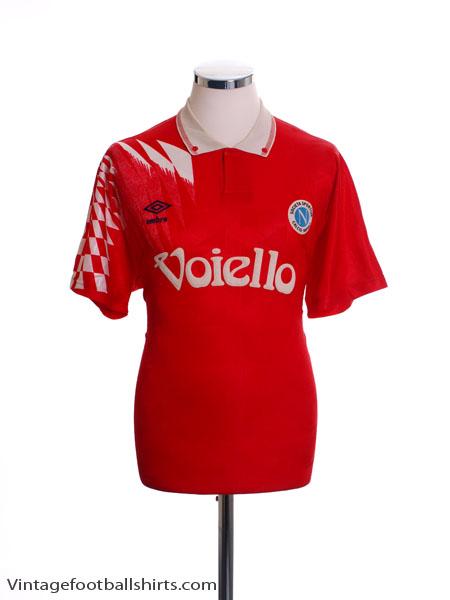 1991-92 Napoli Third Shirt *Mint* XL