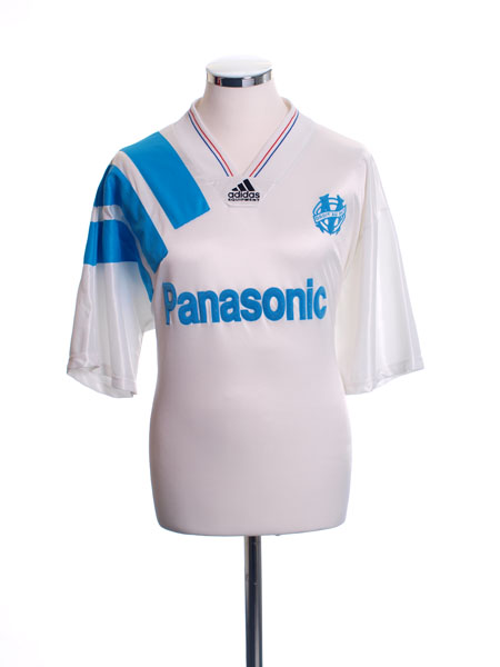 1991-92 Olympique Marseille Home Shirt L