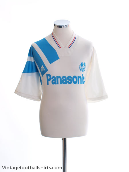 1991-92 Olympique Marseille Home Shirt XL