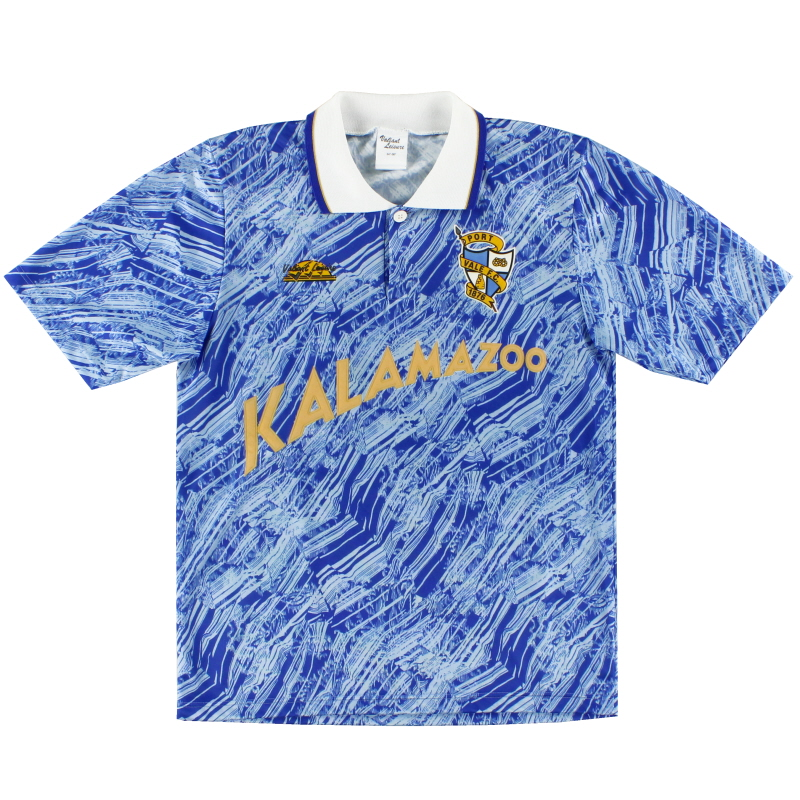 1991-92 Port Vale Valiant Leisure Away Shirt S