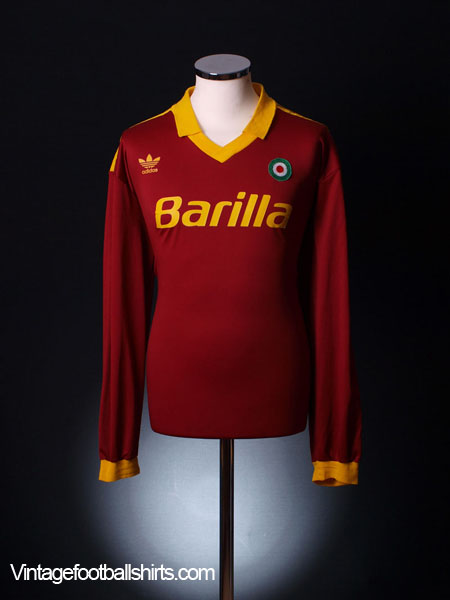 1991-92 Roma Home Shirt L/S XL