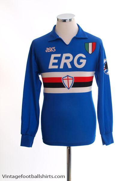1991-92 Sampdoria Home Shirt L/S S