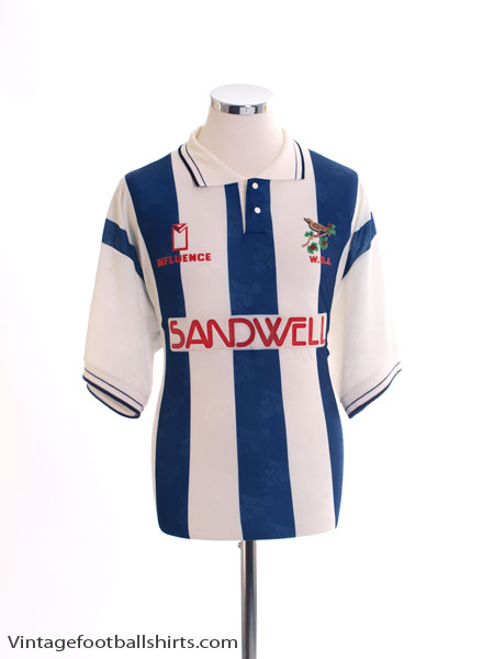1991-92 West Brom Home Shirt L