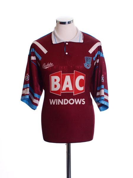 1991-92 West Ham Home Shirt *Mint* L