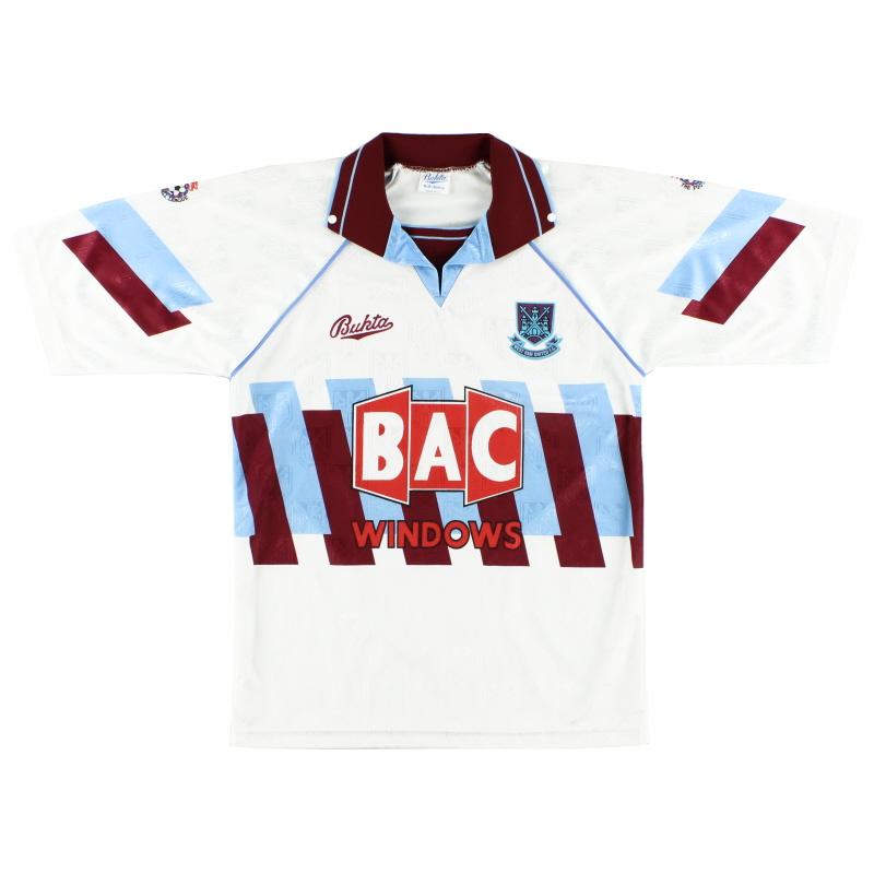 1991-92 West Ham Third Shirt *Mint* S