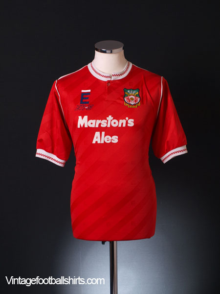 1991-92 Wrexham Home Shirt M