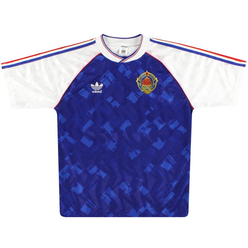 T-Shirts 1991-92 Yugoslavia adidas Home Shirt M