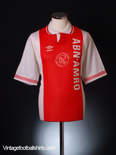1991-93 Ajax Home Shirt *As New* L