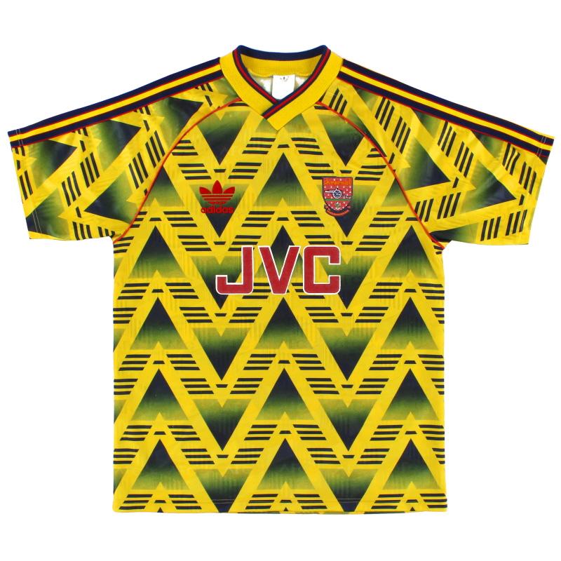 1991-93 Arsenal adidas Away Shirt L - 301276