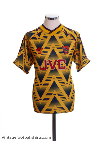 1991-93 Arsenal Away Shirt *Mint* M