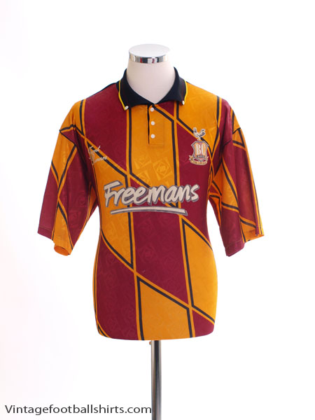 1991-93 Bradford City Home Shirt M