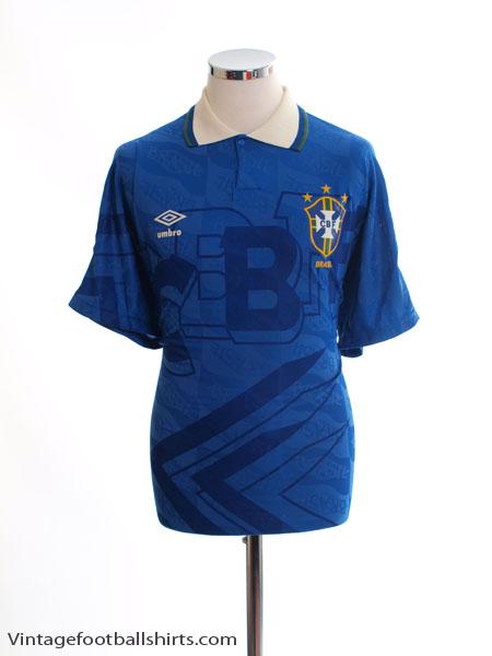 1991-93 Brazil Away Shirt M