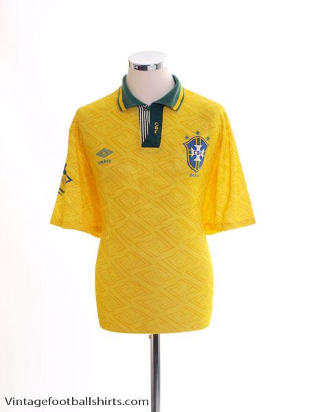 1991-93 Brazil Home Shirt L.Boys
