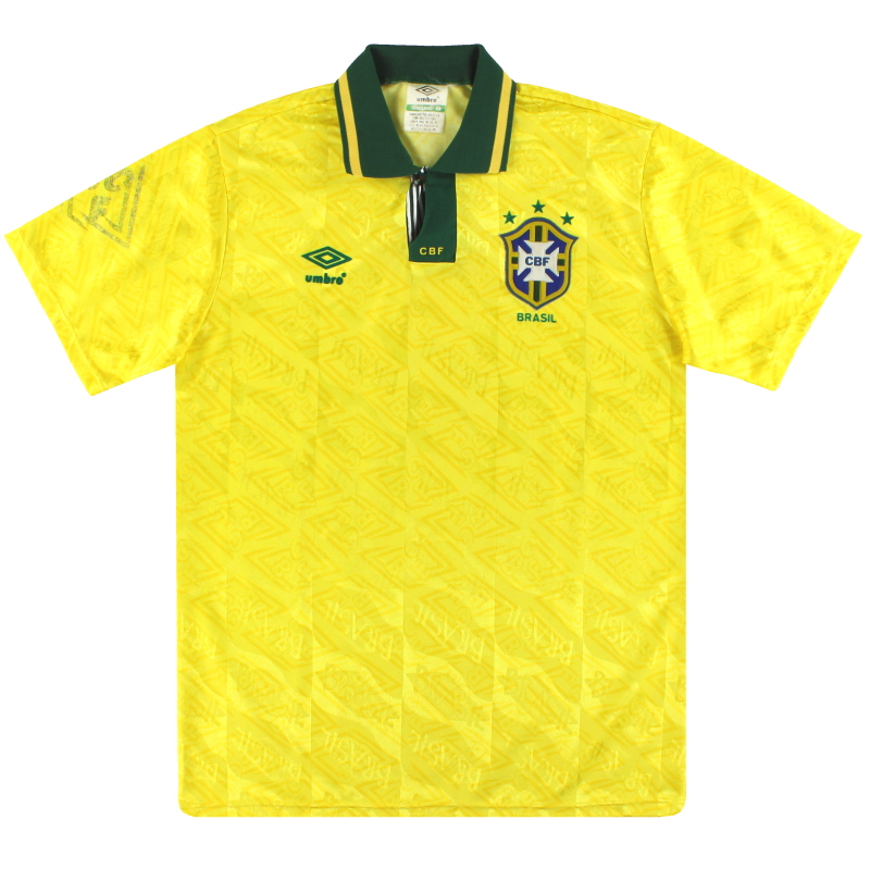 1991-93 Brazil Umbro Home Shirt L