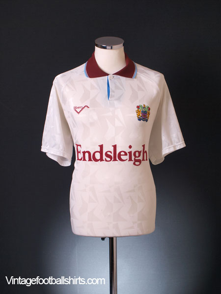 1991-93 Burnley Third Shirt L
