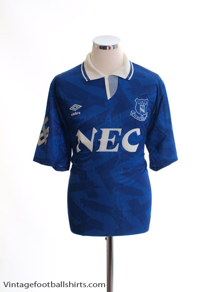 1991-93 Everton Home Shirt L