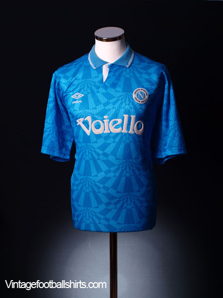 1991-93 Napoli Home Shirt *BNWT* L