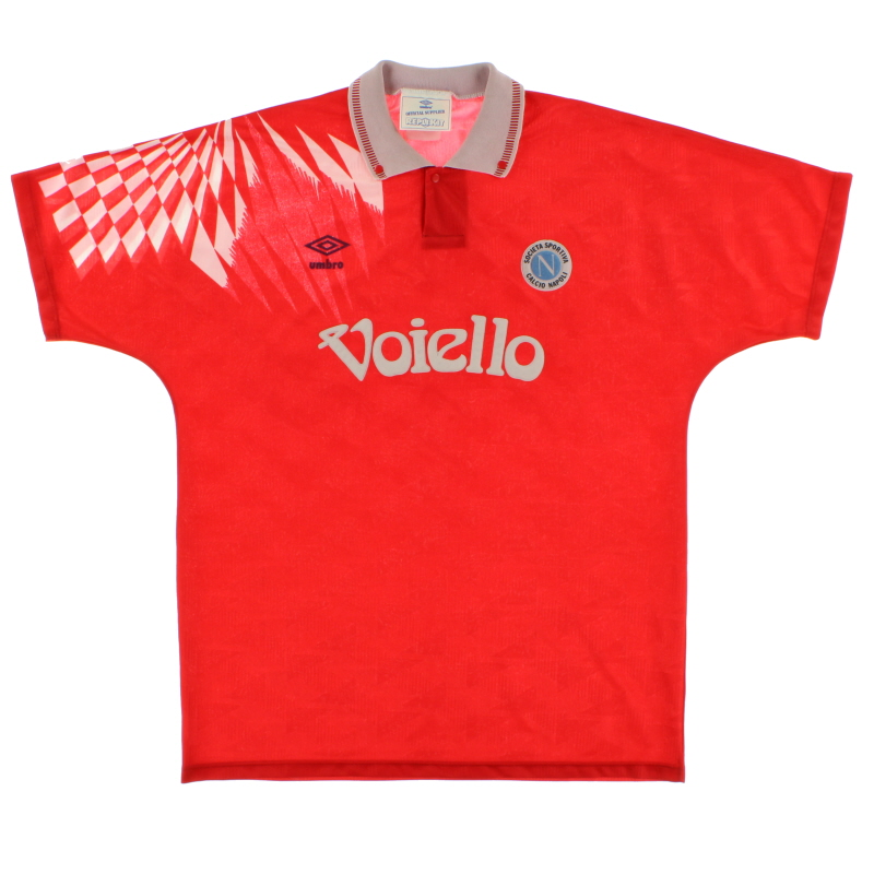 1991-93 Napoli Third Shirt L