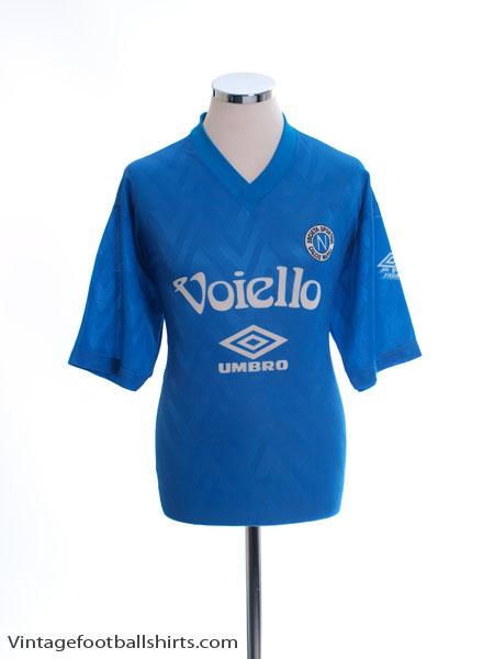 1991-93 Napoli Umbro Training Shirt XL
