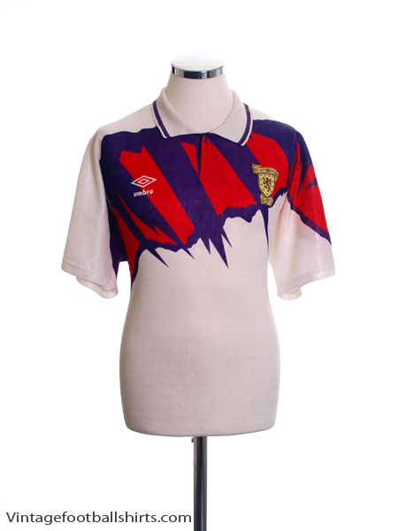1991-93 Scotland Away Shirt L