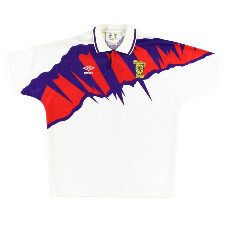 1991-93 Scotland Away Shirt L