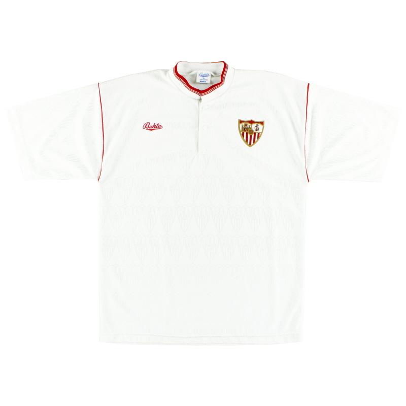1991-93 Sevilla Home Shirt L
