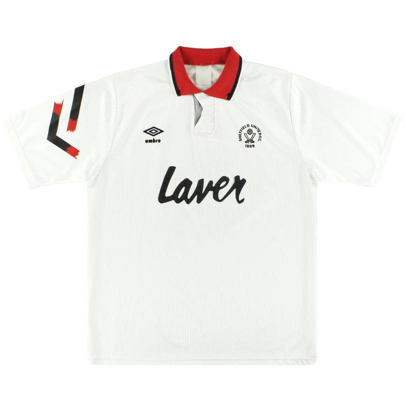 1991-93 Sheffield United Umbro Third Shirt *Mint* XL