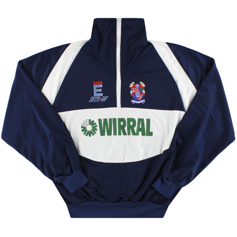 1991-93 Tranmere Rovers En-s 1/4 Zip Track Jacket L