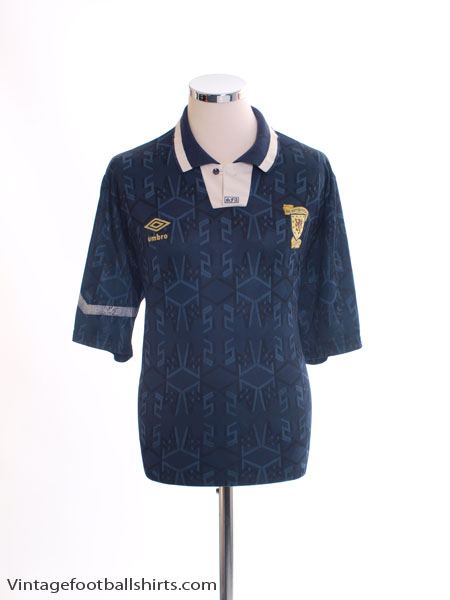 1991-94 Scotland Home Shirt L