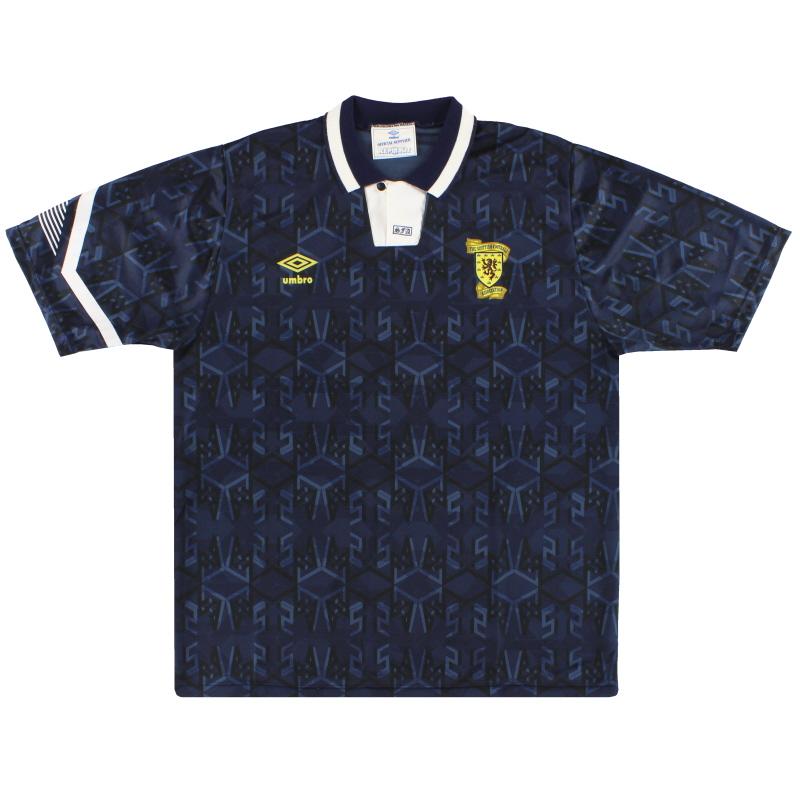 1991-94 Scotland Umbro Home Shirt *Mint* XL