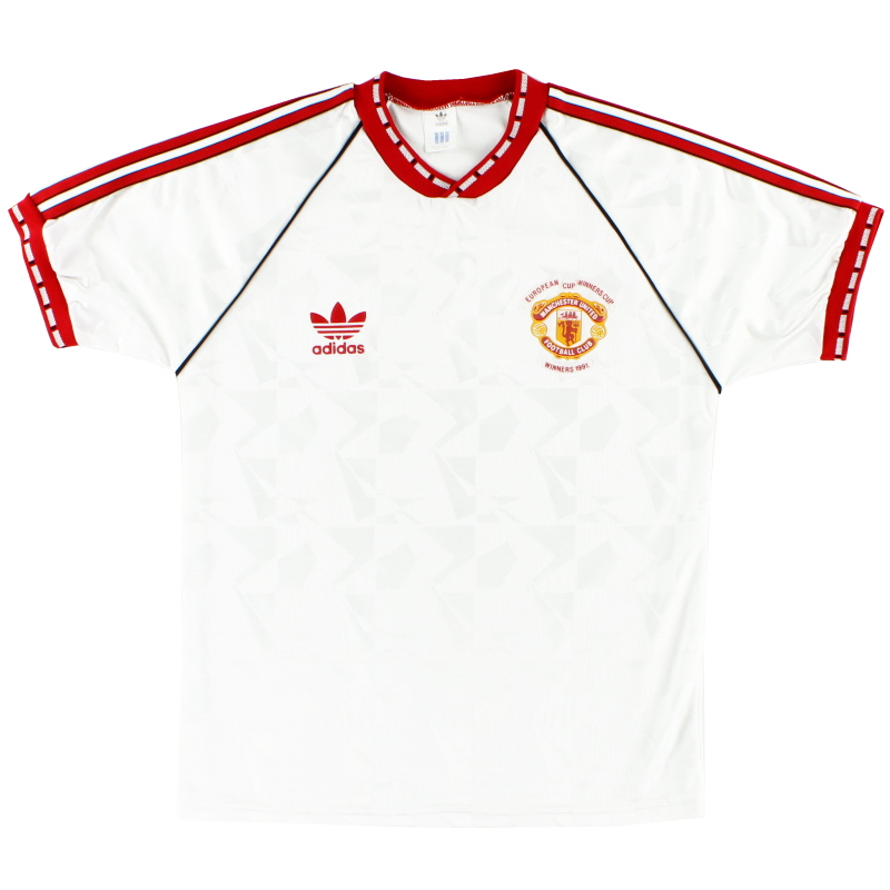 1991 Manchester United adidas European Cup Winners Cup Shirt L