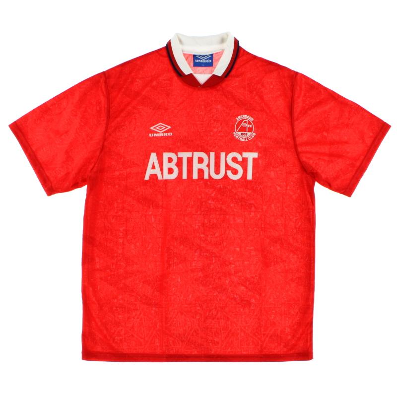 1992-93 Aberdeen Home Shirt *Mint* L