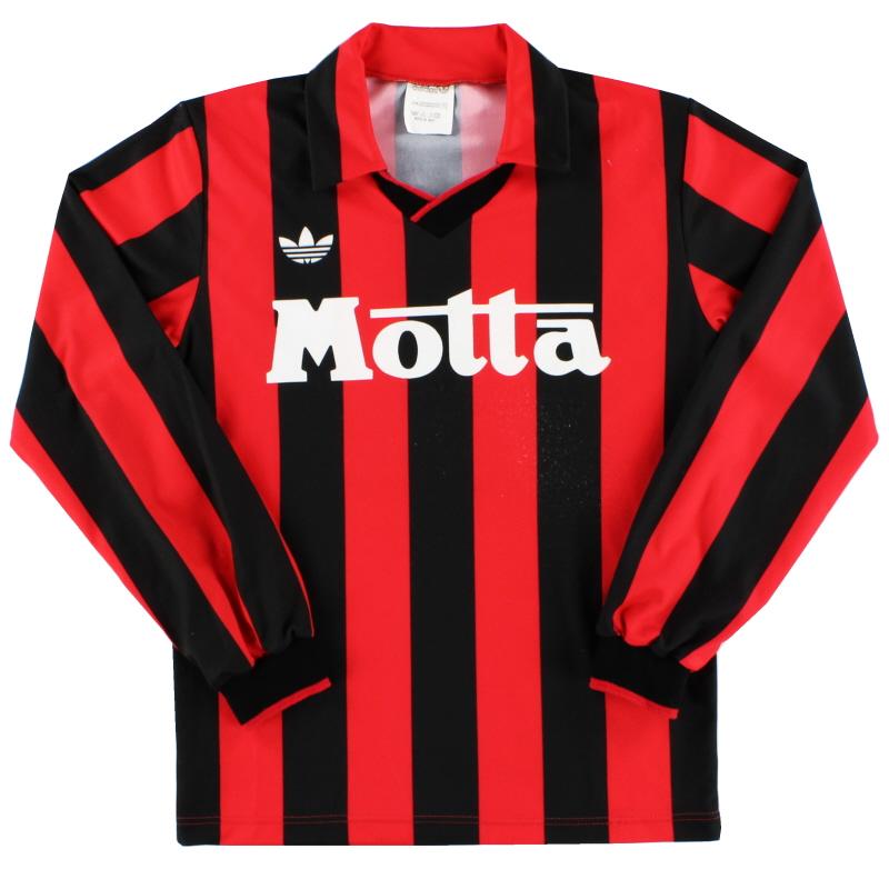 1992-93 AC Milan Home Shirt #14 L/S XS