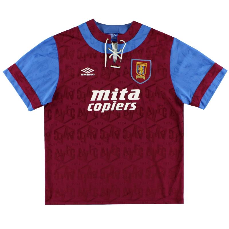 1992-93 Aston Villa Umbro Home Shirt XL