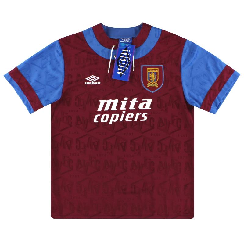 1992-93 Aston Villa Umbro Home Shirt *BNIB*